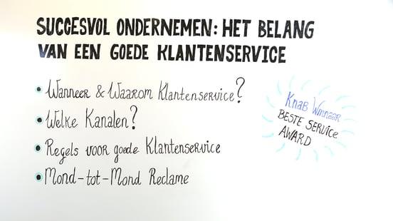 Het belang van goede klantenservice bij succesvol ondernemen: 4 punten op het whiteboard