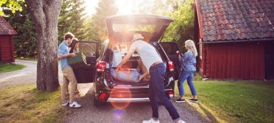 met de auto op vakantie